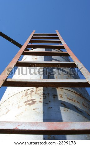 Ladder to the sky - stock photo