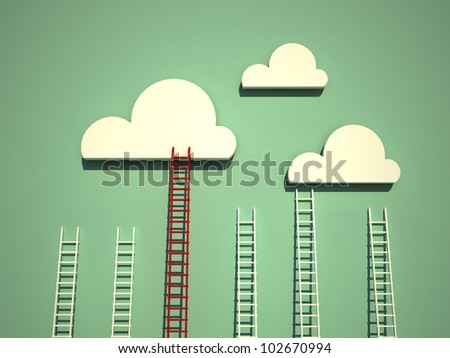 ladders concept - stock photo