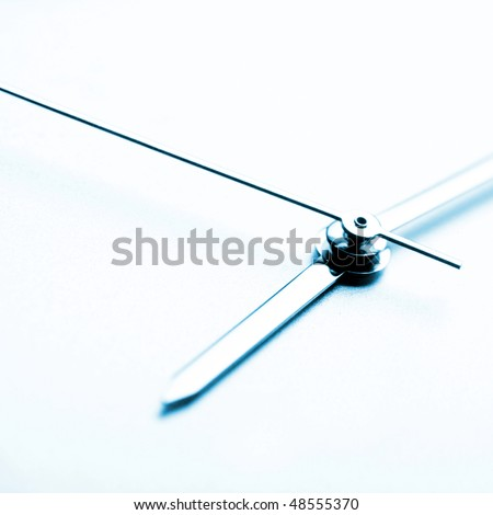 Ladies watch: time is running. Close up. - stock photo