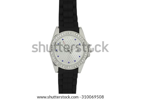 Ladies watch with silicone bracelet