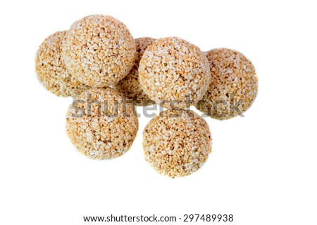ladoo of amaranth (Rajgira) isolated on background