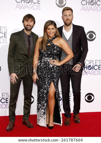 Lady Antebellum at the 41st Annual People's Choice Awards held at the Nokia L.A. Live Theatre in Los Angeles on Tuesday January 7, 2015.  - stock photo