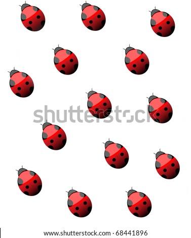 Lady bug background - stock photo