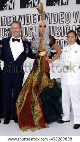 Lady Gaga at the 2010 MTV Video Music Awards held at the Nokia Theatre L.A. Live in Los Angeles, USA on September 12, 2010. - stock photo