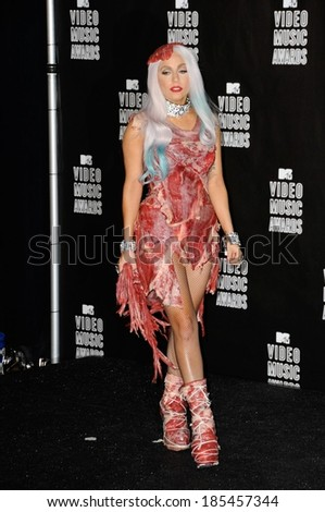 Lady Gaga 2010 MTV Video Music Awards VMA's-NO US PRINT USAGE UNTIL 9/16/2010, Nokia Theatre LA LIVE, Los Angeles September 12, 2010 - stock photo