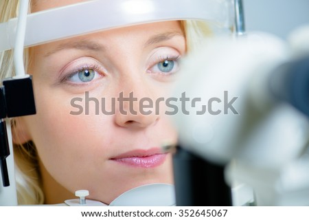 lady having eye examination