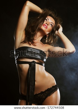 lady in the night club - stock photo