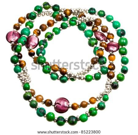 lady's bead isolated on white - stock photo