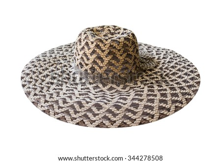 lady's hat isolated on a white background. This has clipping path - stock photo
