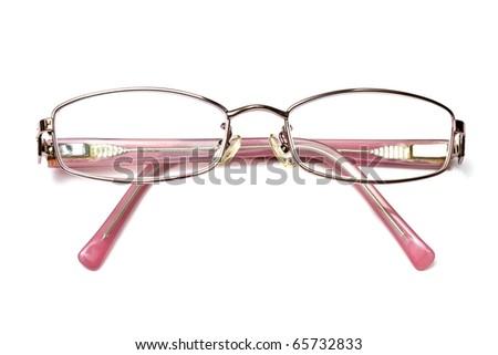 Lady's reading glasses isolated on white background - stock photo