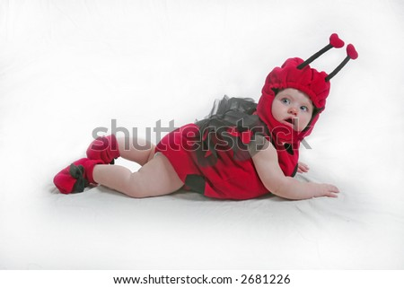 ladybug girl - stock photo