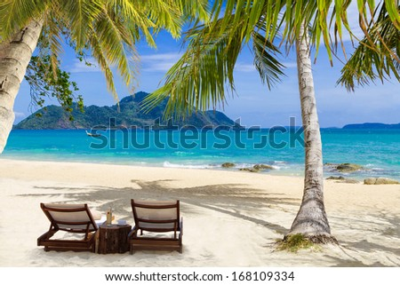 LAEM KA BEACH in Phuket island Thailand - stock photo