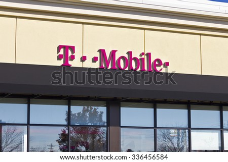 Lafayette, IN - Circa November 2015: T-Mobile Retail Wireless Store. T-Mobile is a wireless provider offering cell phones, data plans, Internet devices & accessories II - stock photo