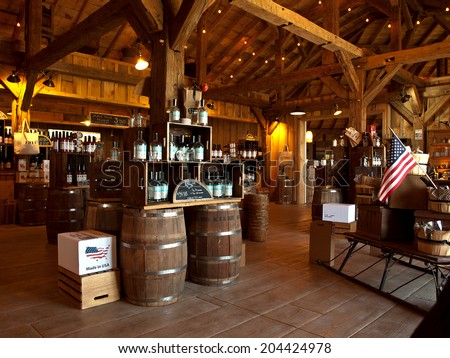 LaFayette, New York, USA- July 11,2014. Beak and Skiff Apple Farms 1911 Tasting Room