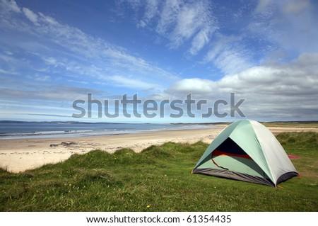 Laggan Bay Islay tent - stock photo