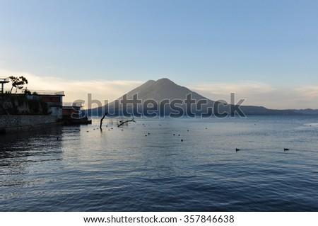 Lago Atitlan, Guatemala. - stock photo
