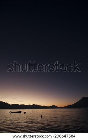 Lago Atitlan Sunrise, Guatemala - stock photo