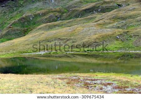 Lago de Vieille du Tramail - Valtournenche - Aosta Valley - stock photo