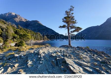 Lago Escondido, Bariloche, Argentina - stock photo