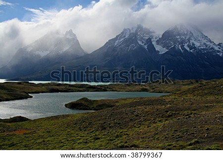 Lago Nordenskjol, Torres del Paine National Park, Patagonia, the Andes, Chile