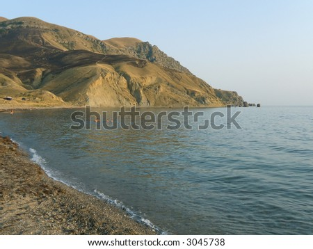 Lagoon at evening in Crimea