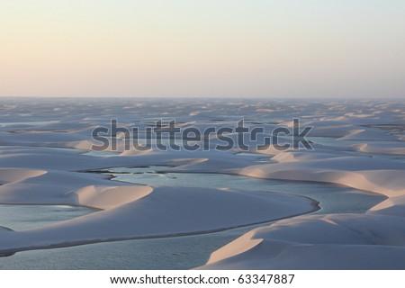 Lagoon in the desert - stock photo