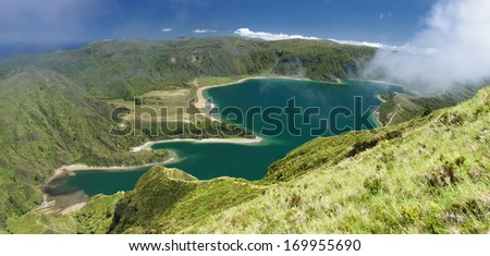Lagoon of Fire at Sao Miguel (Azores islands) 02 - stock photo