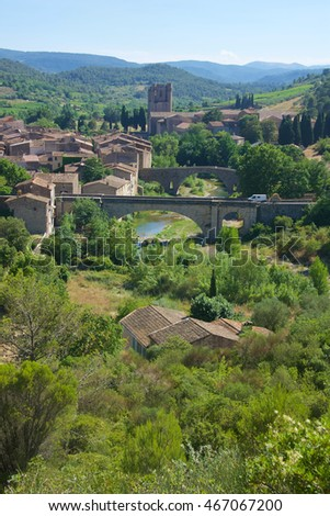 Lagrasse, officially one of the Beautiful Villages of France, in the Aude Department of Languedoc Roussillon