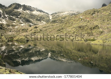 Laguna Grande in Sierra de Gredos, Spain - stock photo