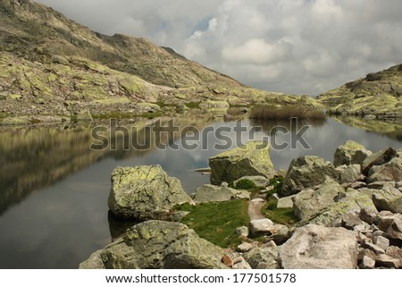 Laguna Grande, Sierra de Gredos, Spain - stock photo