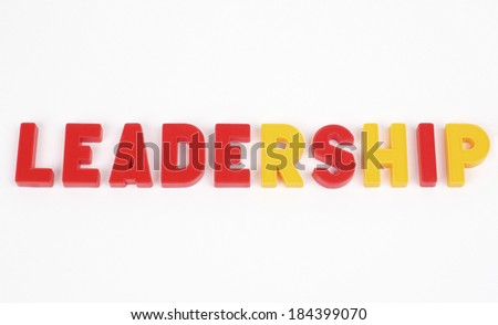laid out the word of colored letters on a white background - stock photo
