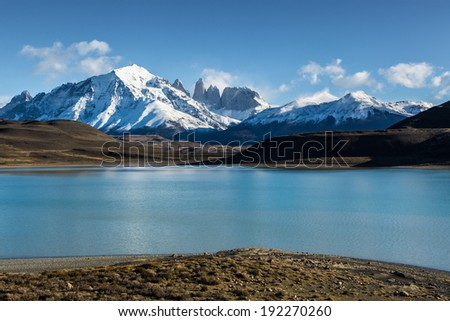 Lake Amargo in Torres del Paine, Chile