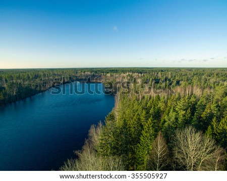 Lake and forest view