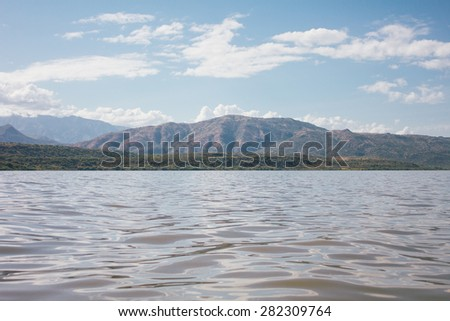 Lake and mountain in Arba Minch, Ethiopia