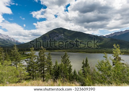 Lake and Mountain Peak