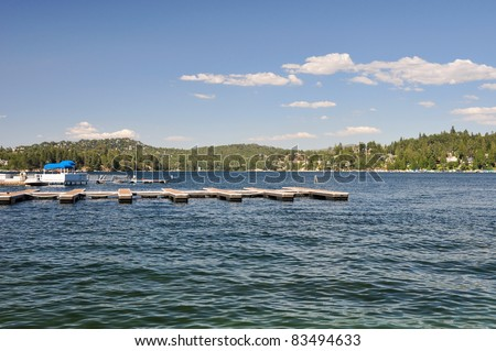 Lake Arrowhead is a popular location for boaters in Southern California. - stock photo