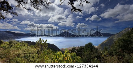 Lake Atitlan in Guatemala - stock photo