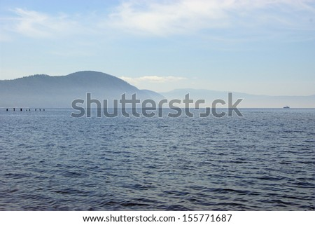 Lake Baikal in the fog