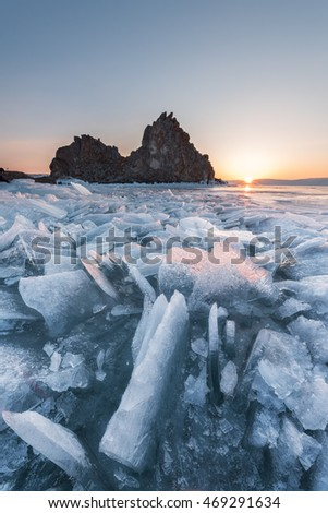 Lake Baikal natural scenery