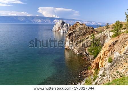 Lake Baikal. Summer Day - stock photo