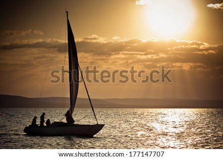 Lake balaton at sunset, Hungary