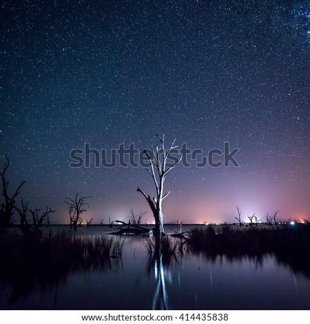 Lake Bonney in South Australia - stock photo