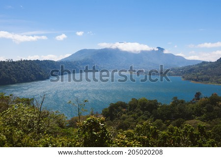 Lake Buyan, Bali, Indonesia - stock photo