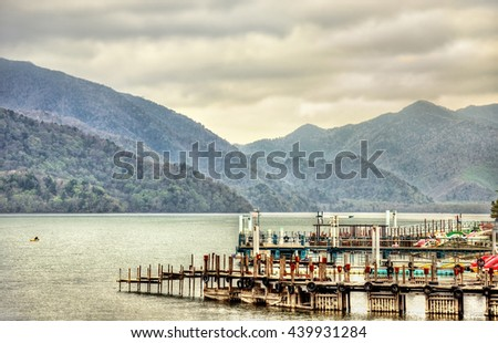 Lake Chuzenji in Nikko National Park - Japan - stock photo