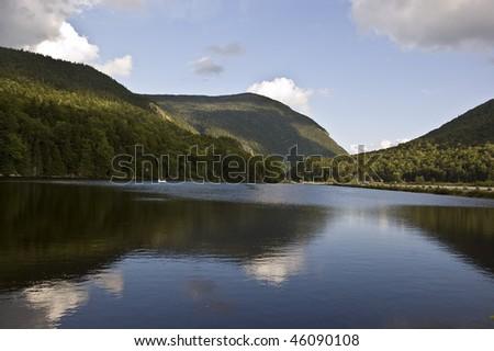 Lake close to Mount Washington, new hampshire, usa - stock photo