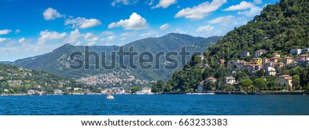 Lake Como in Italy in a beautiful summer day