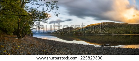 Lake Coniston, Cumbria  - stock photo