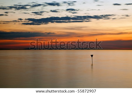 lake constance right after sunset