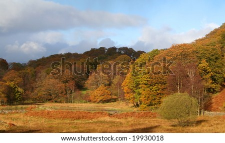 Lake District Fells in Autumn Colors.