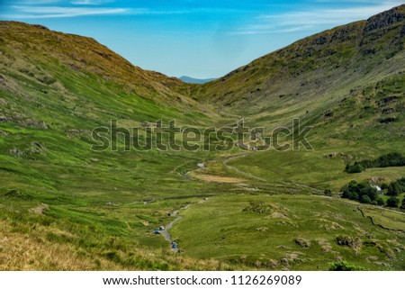 Lake District Landscapes and roads